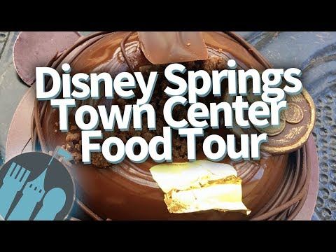 Disney World Food Tour! EVERYTHING to Eat in Disney Springs Town Center!