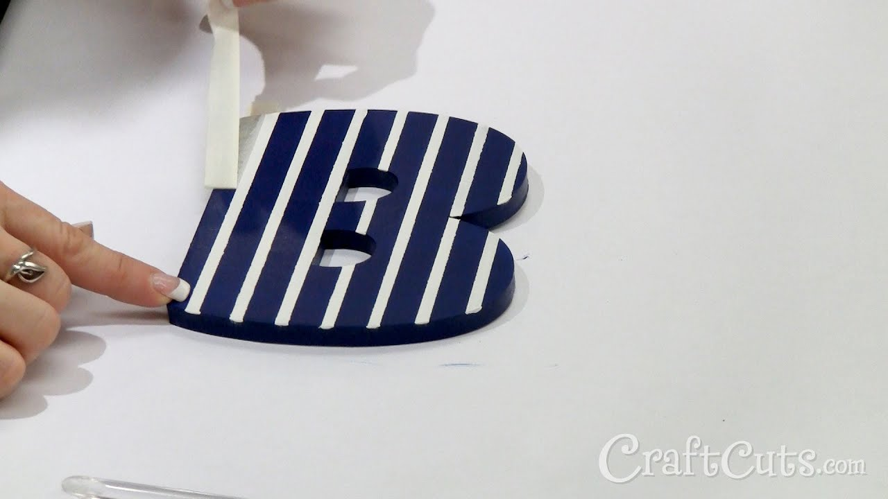 how to paint stripes on wood letters