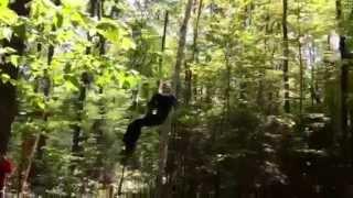Tarzan Swing at huntsville's Treetop Trekking 2013