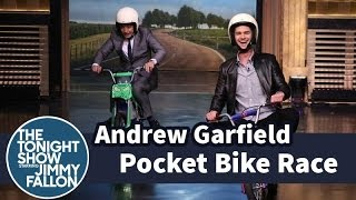 Pocket Bike Race with Andrew Garfield