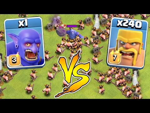 240 BARBARIANS vs 1 BOWLER 😀INSANE BATTLE!!!🔸Clash of clans