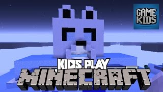Minecraft Labyrinth And Ice House With Matt, Webb, And Mills - Kids Play