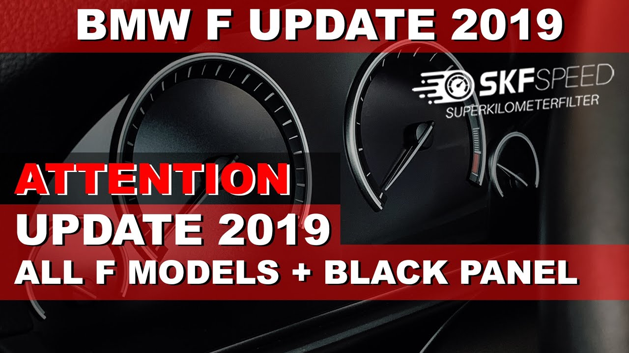 Mileage blocker BMW F Body update 2019 stop counting up odometer ⭕️ Black  Panel 6WB 35160 no miles