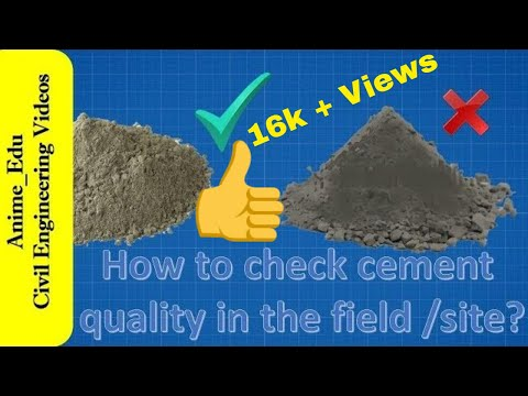 How to check cement quality in the field?// 7 simple tests to check cement quality in the site //