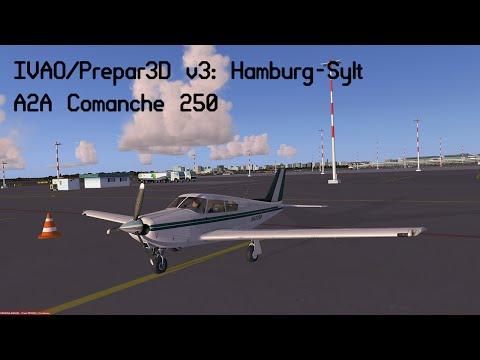 [Prepar3D v3/IVAO] VFR | Full ATC | Hamburg (EDDH) - Sylt (EDXW) | A2A Piper Comanche 250