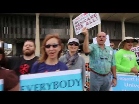 Universal Healthcare Rally February 25 2017 at Hawaii State Capitol