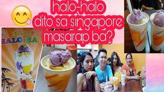 PINOY HALO-HALO in SINGAPORE | LUCKY PLAZA -| Dally Andrada