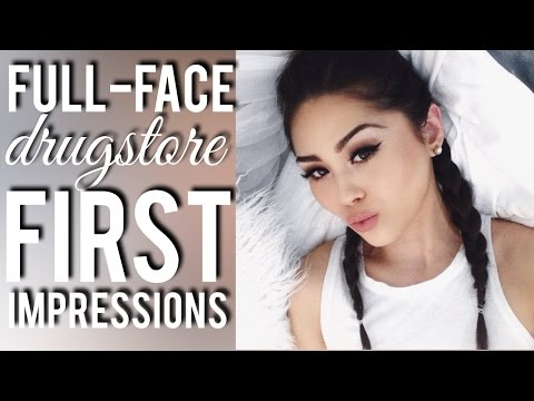 Full Face Tutorial of First Impressions: Drugstore Makeup Edition | Roxette Arisa