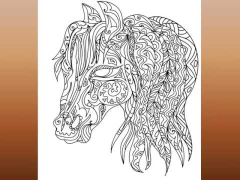 An Adult Coloring Book: Wild and Free featuring unique animal ...