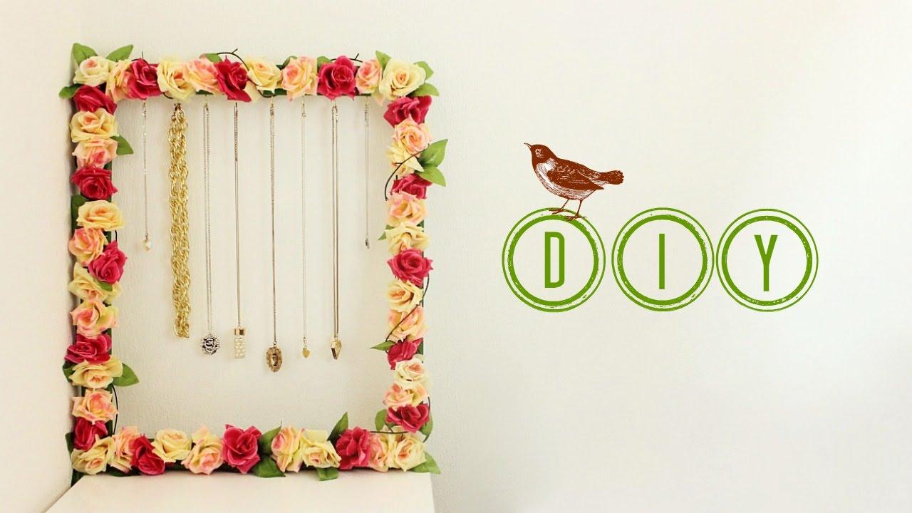 Easy DIY Flower Necklace Frame | Jewellery Holder | Jtru - YouTube