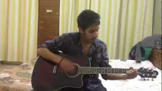 jee chahe panchi hojavan on guitar by Nikhil,Fazilka