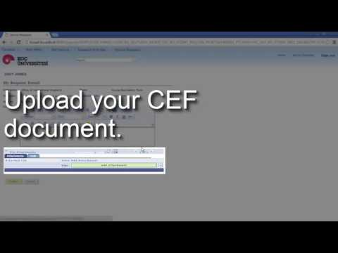 How To Submit Course Equivalency Form (CEF)