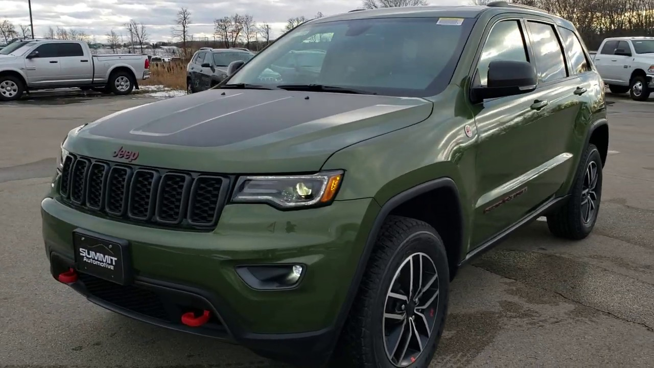 Brand New 2020 Jeep Grand Cherokee Green Metallic Trailhawk New Color Walk Around Review Summitauto Youtube