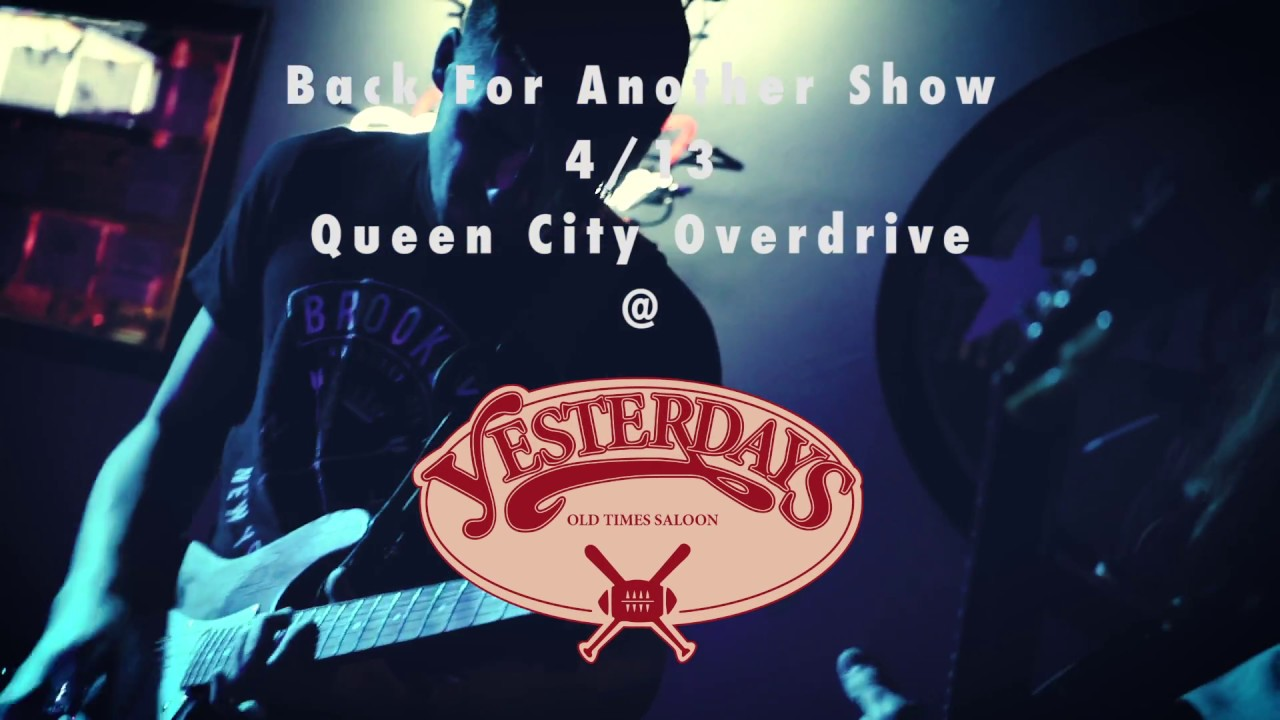T shirt design on queen city - Thursday Night Blues W Queen City Overdrive Yesterday S