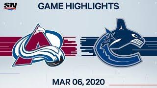 NHL Highlights   Avalanche vs. Canucks – Mar. 6, 2020