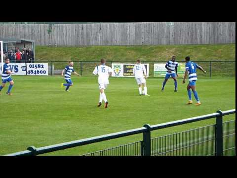 BASINGSTOKE'S JARVIS MISCUES IN FRONT OF THE DUNSTABLE GOAL
