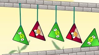 Angry Birds Piggies Out - KICK OUT PIGS AND RESCUE TRIANGLE BIRDS BY CUTTING ROPE!