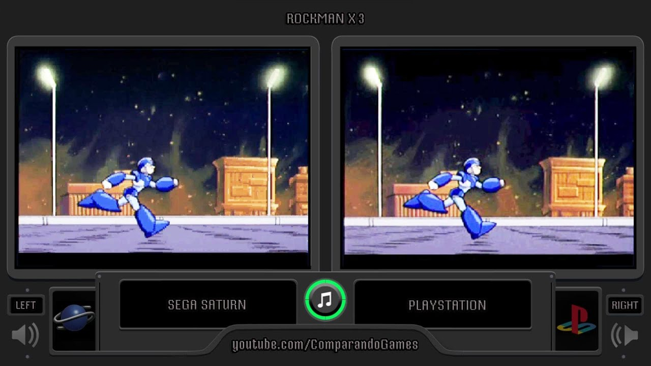 Rockman X3 Sega Saturn Vs Playstation Side By Side