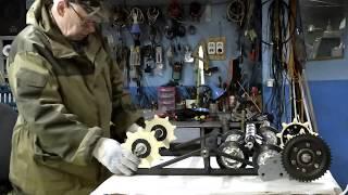 Мотобуксировщик своими руками.Ч-4. Изготовление узлов ходовой части букса.