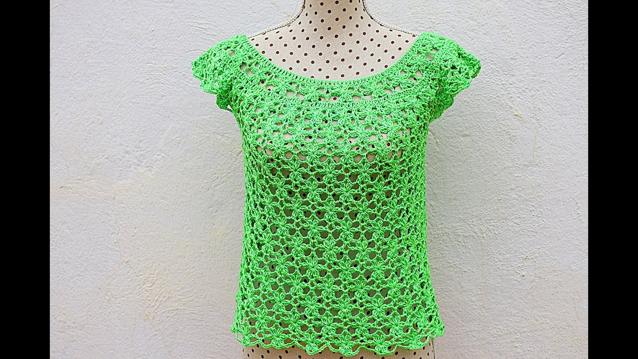 122b751da Blusa de mujer a crochet muy facil y rapido Majovelcrochet #ganchillo # crochet