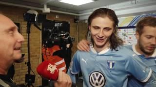 Pawel Cibicki och Anton Tinnerholm efter HBK - MFF