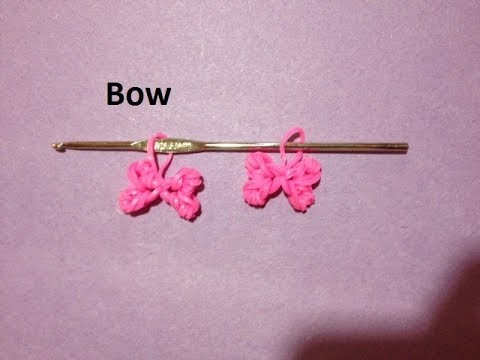 How To Make Rainbow Loom Bow Charm Just Using A Crochet