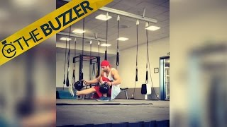 Kettlebell backflips are a crazy | @TheBuzzer | FOX SPORTS