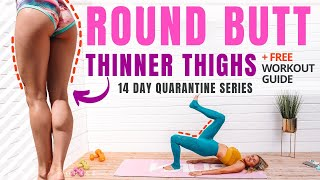 ROUND Butt & THINNER Thigh Workout - BEACH BODY in Maldives. QUARANTINE SERIES | Rebecca Louise