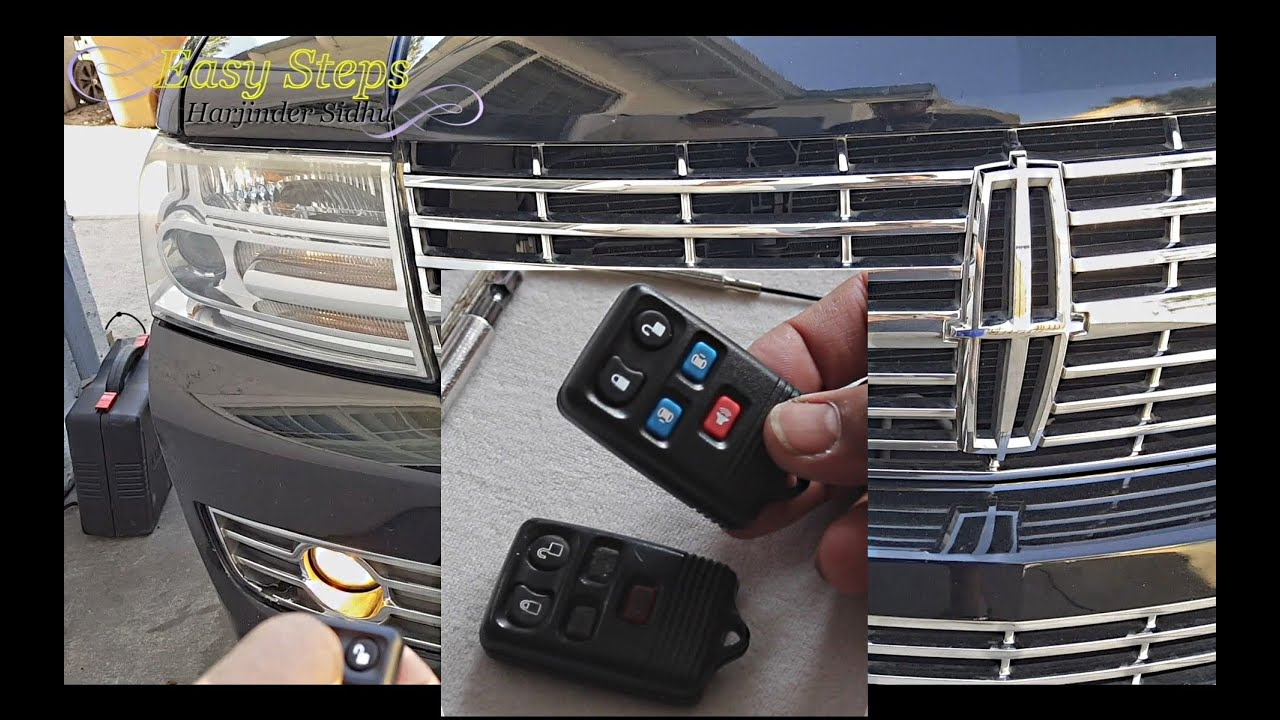 How To Change A Remote Electronic Key Lincoln Navigator Worn Out Key Fob Transforms Into New Key Youtube