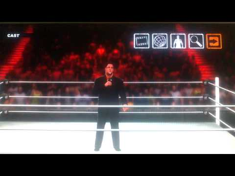 WWE 13 Tony Chimel gets chokeslamed by a ghost?