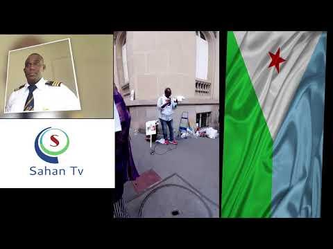 Manifestation du Collectif Halgan devant l'ambassade de Djibouti à Paris
