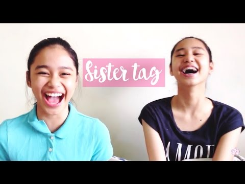 Sister Tag! | ThatsBella: Hey guys! I kinda of made this tag different. I only included some questions and whoever doesn't answer the question correctly gets whipped cream on the opponent's face. Here are the questions that i included: - How old are you both? - Guess each other's fav singer. - Heels or flats? - Favorite animal? - Comedy, horror or chick flick? - Blackberry or iPhone? - Favorite movie? - What is something weird that you eat? - What's your favourite tv show?   -  Thank you guys for 100 subscribers! Make sure to subscribe, like, and comment for more videos. :)