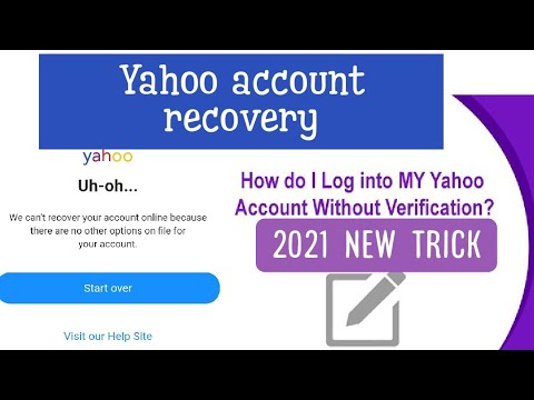 Download Yahoo mail old account recovery new trick 2021   Recover your Yahoo account without any Verification