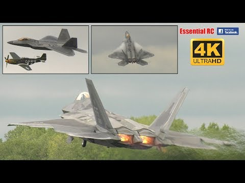 INCREDIBLE F-22A RAPTOR at RIAT 2017 (RAF Fairford) [*UltraHD and 4K*]