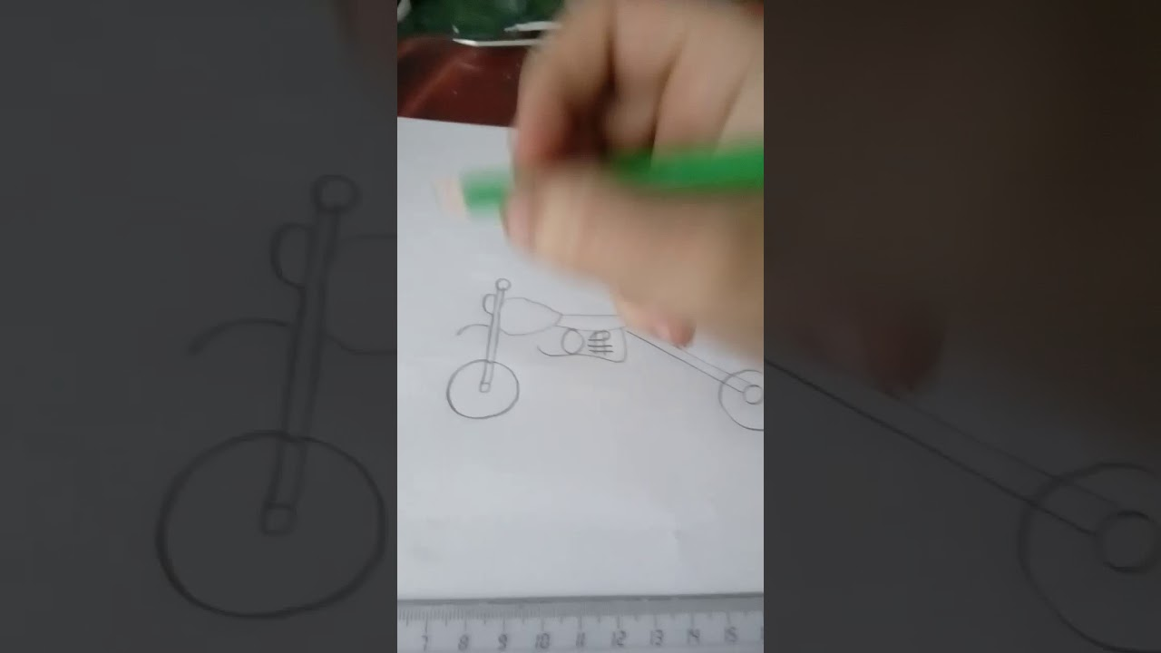 Dessin De Moto Facile A Faire Youtube