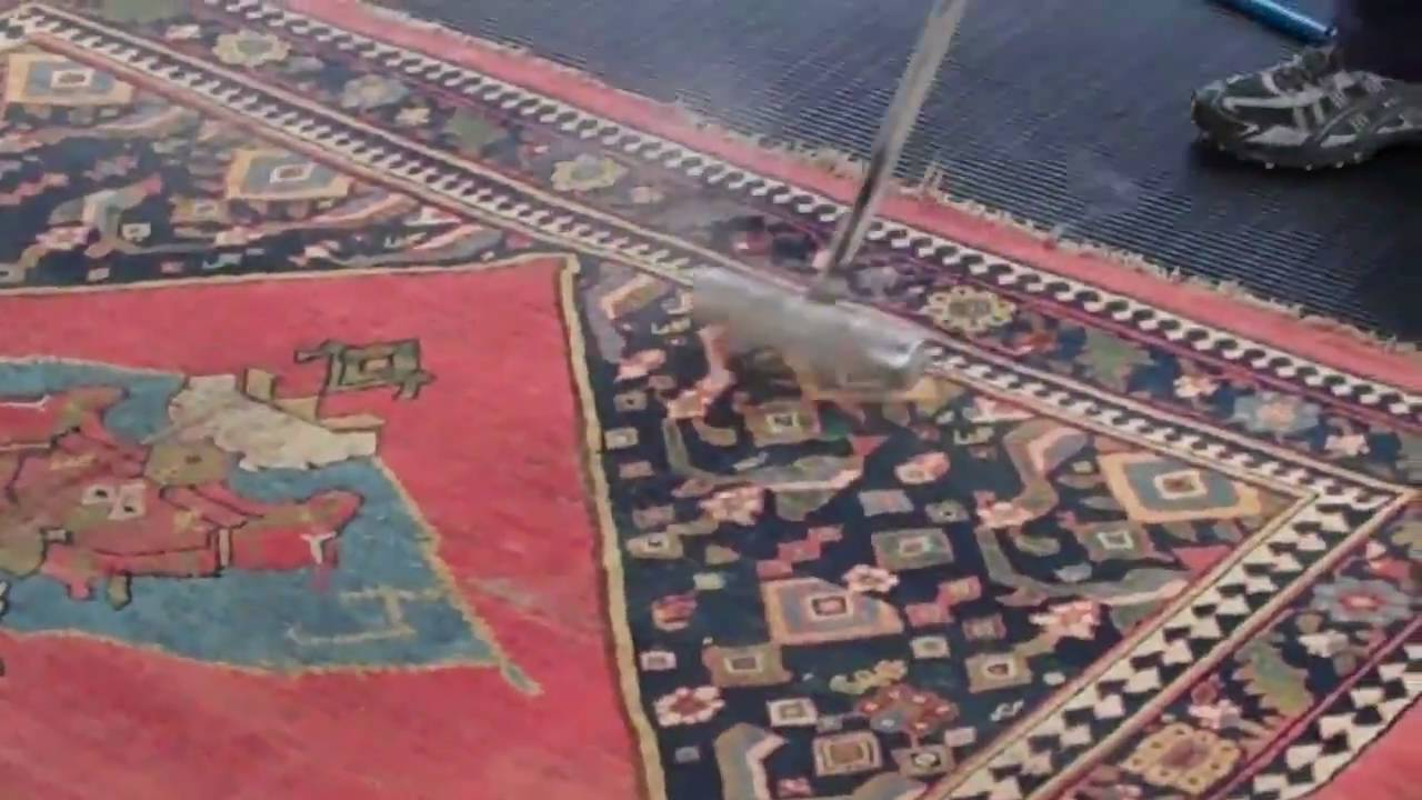 WATCH AS WE WASH AN ANTIQUE RUG! - YouTube