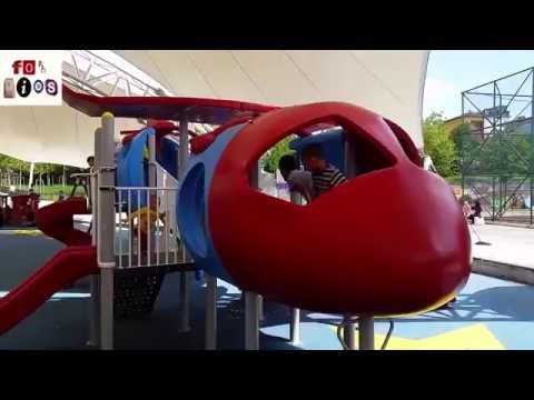 Outdoor Playground for Kids Family Fun Play Area Viaport and Gpark Amusement Park Child Play Center.