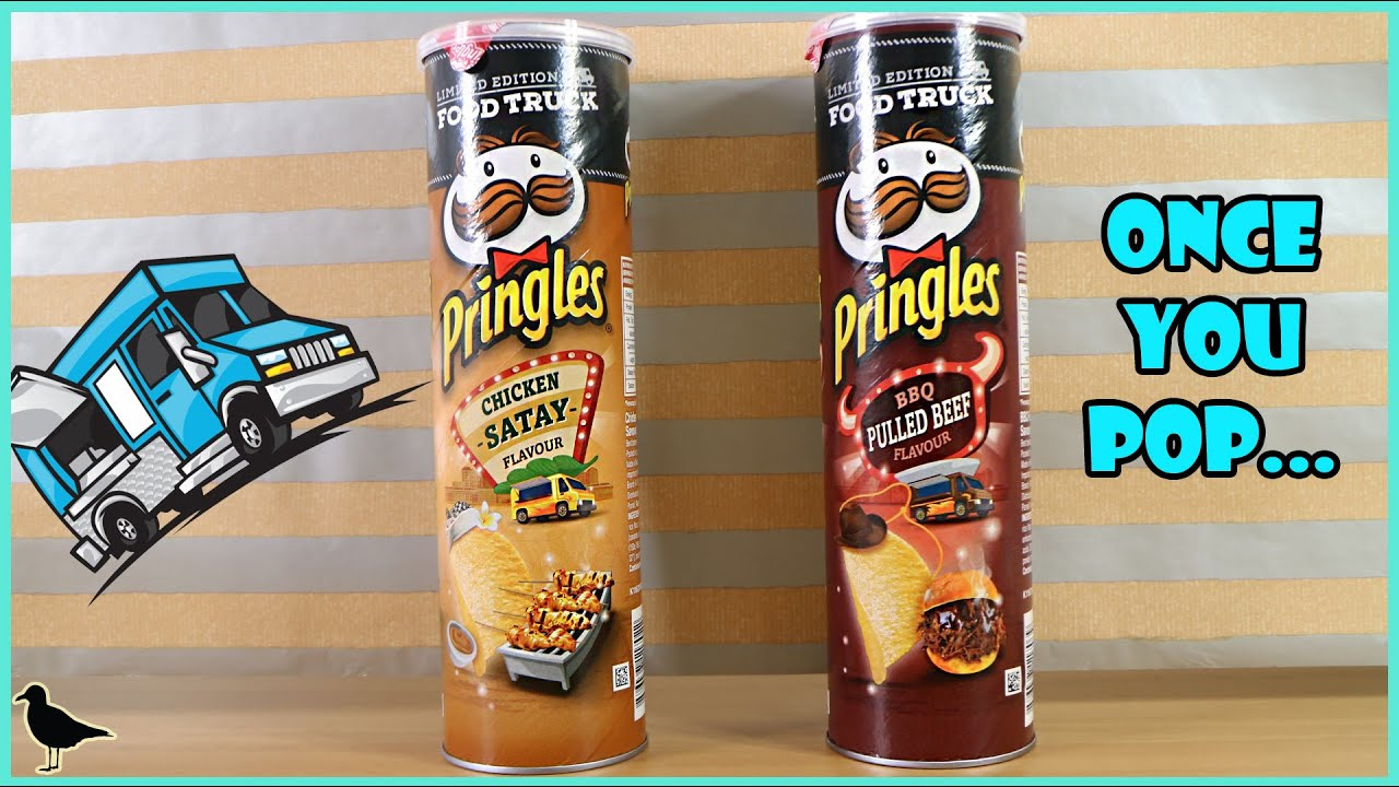 Limited Edition Pringles Food Truck Flavours Chicken Satay Pulled Beef Tasting Birdew Reviews Youtube