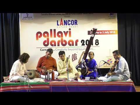 Saketharaman as spl sapta swara - Sapta raga - sapta tala pallavi concert l Pallavi Darbar 2018
