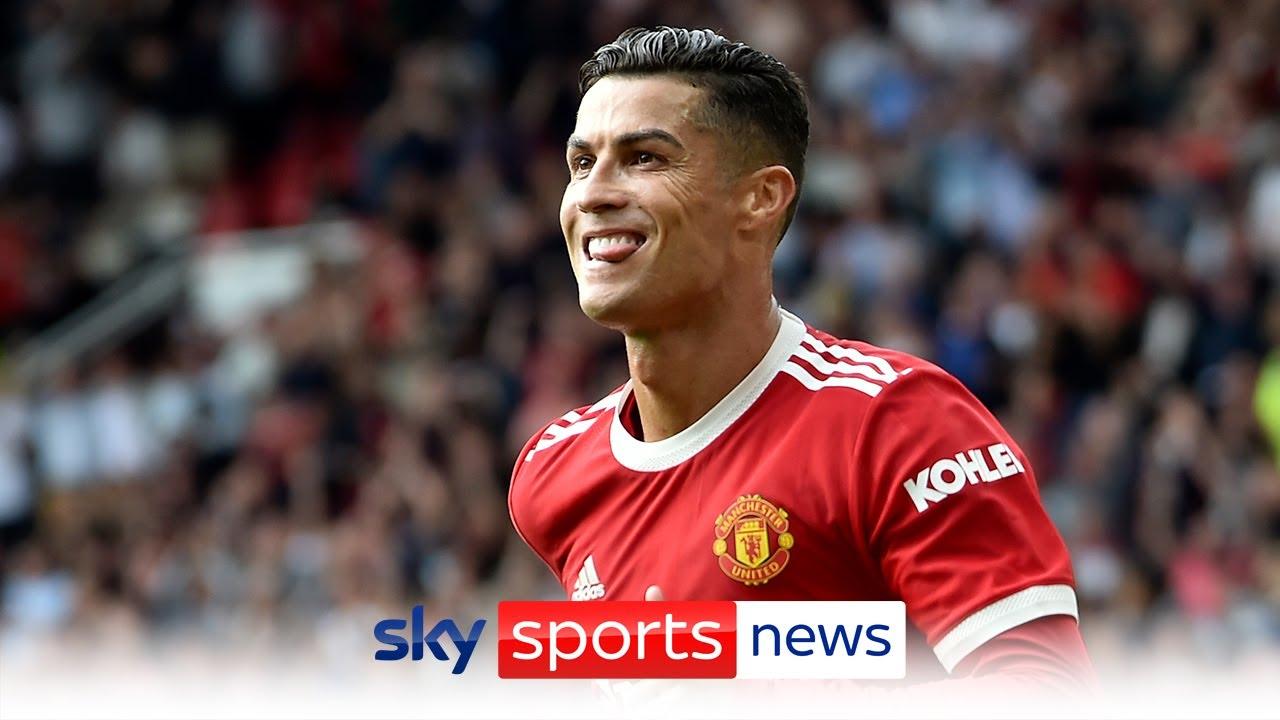 Cristiano Ronaldo scores twice on his Manchester United return