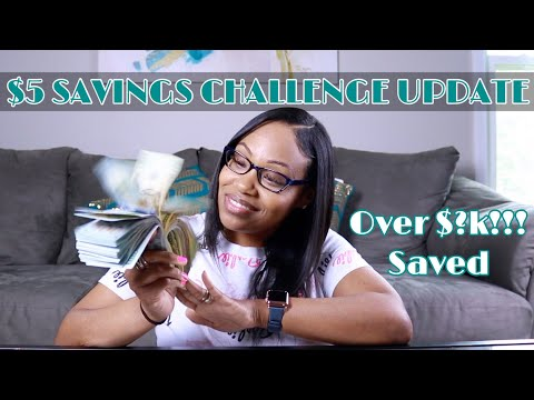 6 Month Savings Challenge (UPDATE) | $5 Dollar Challenge | Ways To Save Money