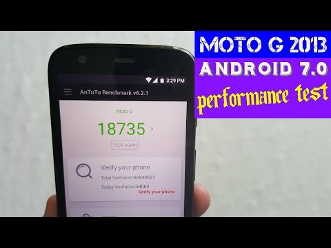 Moto G 2013 1st Gen Android 7.0 Nougat Performance Test