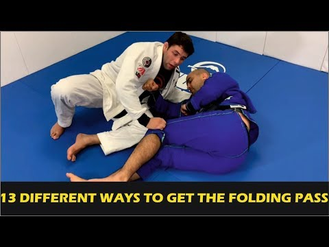 """13 Different Ways To Get The Folding Pass (BJJ Guard Passing) By Marcus """"Buchecha"""" Almeida"""