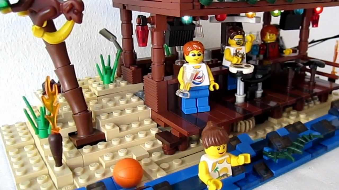 Lego the beach bar youtube for How to build a beach bar