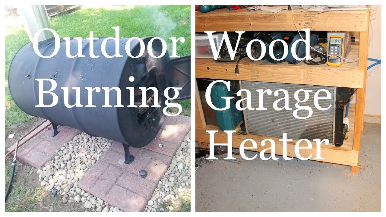 outdoor wood burning garage heater