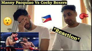 Manny Pacquiao vs Cocky Boxers : His most Satisfying Wins *Reaction*