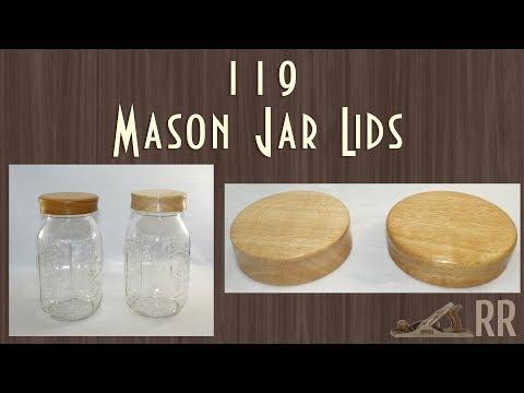 Mason Jar Lids Woodturning - 119