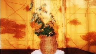 Кашпо для цветов Горшочек - плетение из лозы - Pots flower pot - wickerwork