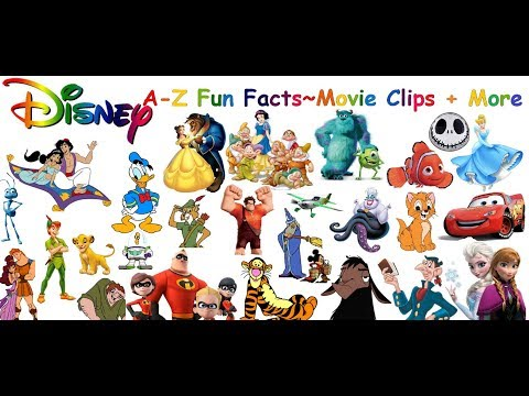 Disney Characters A-Z Disney Alphabet and Fun Facts!