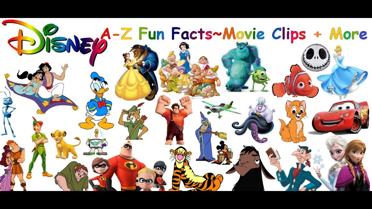 Cartoon Characters Letter Z : Disney characters a z alphabet and fun facts youtube